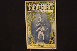 A.V.B.2/ Distillerie Stokerij - Hasselt  G. Robben-Delbon  Distillateur Boerenkrijg  - 10 X16,5 Cm - Autres