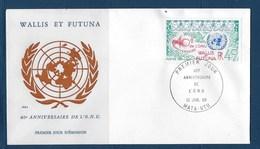 """Wallis FDC YT 332 """" ONU """" Enveloppe Du 12.7.1985 - FDC"""