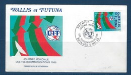 "Wallis FDC Aerien YT 162 (PA) "" Télécommunications "" Enveloppe Du 5.5.1988 - FDC"