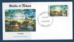 """Wallis FDC YT 392 """" Paysage """" 1989 Enveloppe Du 23.11.1989 - FDC"""