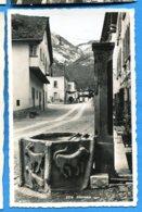 OLI033, Giornico, 2274, Fontaine, Chèvre, Ziege, Goat, édit. W. Borelli, Non Circulée - TI Tessin