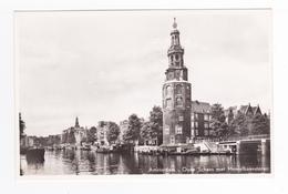 Amsterdam N°10 Oude Schans Met Montelbaanstoren Péniches VOIR DOS - Amsterdam