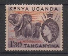Kenya-Uganda - 1954-58 - N°Yv. 97 - Elephants 1s30 - Neuf Luxe ** / MNH / Postfrisch - Elefanten