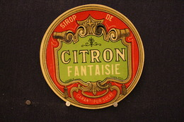 A.V.B.2/ Distillerie Stokerij - Sirop De Citron Fantaisie  - Garanti Pur Sucre  ( Déposé  0  Myncke - Bruxelles ) - Autres