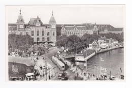 Amsterdam N°15 Centraal Station Tram Tramway Voitures Autos Riuwelstalling - Amsterdam