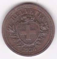 SUISSE. 1 RAPPEN 1936 B. BRONZE - Suisse