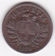 SUISSE. 2 RAPPEN 1920 B. BRONZE - Suisse