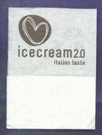Serviette Papier Paper Napkin Tovagliolino Caffè Bar ICECREAM 2.0 Italian Taste Cuore Stilizzato - Serviettes Publicitaires