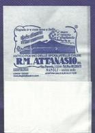 Serviette Papier Paper Napkin Tovagliolino Caffè Bar ATTANASIO Napoli Vulcano Vesuvio Antico Forno Delle Sfogliatelle - Serviettes Publicitaires