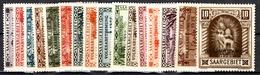 Sarre YT N° 173/188 Neufs ** MNH. TB. A Saisir! - 1920-35 Società Delle Nazioni