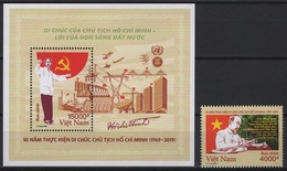 Vietnam (2019) - Set+ Block -  /   Famous Person - Ho Chi Minh - Space - Airplane - Energy - Asean - Military - Vietnam