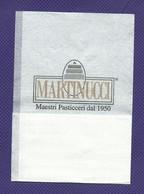 Serviette Papier Paper Napkin Tovagliolino Caffè Bar MARTINUCCI Maestri Pasticceri Dal 1950 (prov. Di Lecce) - Serviettes Publicitaires