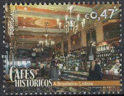 Portugal 2016 Used Cafés Históricos Cafés Historiques A Brasileira Lisbonne SU - 1910-... Republik