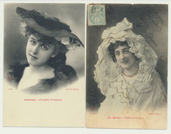 Lot 2 Cartes -  Artistes Robinne Et Ch. Mellot - Edition Bergeret - Cliché Manuel - Bergeret