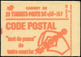 FRANCE Carnets ** - 1816-C5, Carnet De 20, Sans Phospho, Gomme Mate: 0.80 Béquet - Cote: 180 - Usage Courant