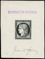 FRANCE Poste EPA - 2, Faux De Sperati, épreuve En Noir, Signée: 15c. Cérès - 1849-1850 Cérès