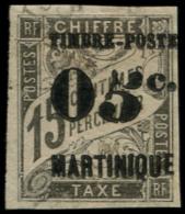 MARTINIQUE Poste O - 19a, 5 Penché: 05c. S. 15c. Noir - Cote: 80 - Martinique (1886-1947)