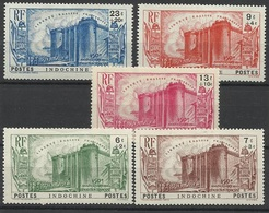 Indochine N° 209 à 213 Neufs Avec Charnière De 1939 - Révolution Française - Indochina (1889-1945)
