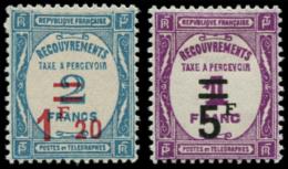 FRANCE Taxe * - 64/65, 1.20f Et 5f. - Cote: 120 - 1859-1955 Neufs