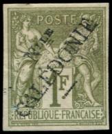 NOUVELLE-CALEDONIE Poste * - 20, Type I, Signé: 1f. Olive Sage (Léger Pli) - Cote: 400 - Non Classés