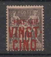 Port Said - 1899 - N°Yv. 19B - VINGT-CINQ Sur 10c Noir - Neuf Luxe ** / MNH / Postfrisch - Neufs