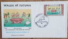 WALLIS ET FUTUNA - FDC 1989 - YT Aérien N°166 - DECLARATION DROITS DE L'HOMME / PHILEXFRANCE - FDC