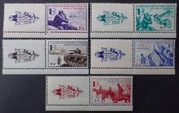 "R1615/1516 - 1942 - LIBERATION - LVF - SERIE "" BORODINO "" (complète) - N°6 à 10 NEUFS** BdF Avec Vignettes - Liberación"
