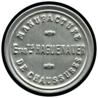 "FRANCE Timbres Monnaie ALU - 137, 5c. Vert Semeuse, Aluminium, Fond Grenat: ""Chaussures Haguenauer"" - Autres"