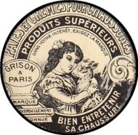 """FRANCE Timbres Monnaie FP - 130, 15c. Lignée, Fer Peint, Illustré D'une Chèvre, Fond Vert Doré: """"Grison Crème à Chaussur - Autres"""