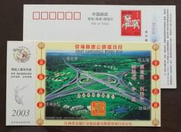 Moxi Interchange Bridge To Beijing Shanghai Fuzhou & Ruili,China 2003 Beijing Fuzhou Expressway Project Office PSC - Bruggen