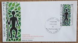 Wallis Et Futuna - FDC 1991 - YT N°416 - Tradition / Cueilleur De Fruits à Pain - FDC