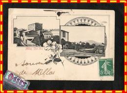 MILLAS (Pyr.Or.) Vue Générale.- Ancien Château Féodal( Recto Verso) - Millas