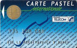CARTE A PUCE CHIP CARD CARTE TÉLÉPHONE SALON DÉMONSTRATION GSM CARTE PASTEL INTERNATIONALE - France