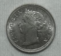 Silber/Silver Hongkong/Hong Kong Victoria, 1901, 5 Cents Funz/AU - Colonie