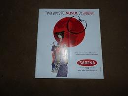 Sabena Timetables And Fares Horaires Et Tarifs 1969 Oiseau Magritte Two Ways To Japan By Sabena - Monde