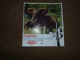 Sabena Timetables And Fares Horaires Et Tarifs 1968 Oiseau Magritte Baitobi Gateway To The Safari Paradise - Monde