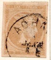 GRECE (Royaume) - 1872-76 - N° 34 - 2 L. Bistre- (Tête De Mercure) - (Sans Chiffre Au Verso) - Gebraucht