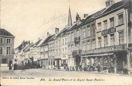 ATH - La Grand' Place Et Le Grand Bazar Parisien - Circulé: 1908 - 2 Scans. - Ath