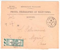 COLOMBES Seine Enveloppe Entière 849 Valeurs Recouvées Taxe T 60  Ob 1933 - Postage Due