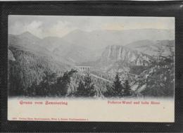 AK 0400  Semmering - Polleroswand Und Kalte Rinne / Verlag Nachbargauer Um 1900-1910 - Semmering