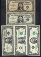 Usa 1  $ 1935 G + 1957 A + B BOLLINO BLU + 2006 + 2 $ 2003 LOTTO 074 - Small Size - Tamaños Pequeños (1928-...)