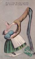 """Illust. (Mince Mari Géant Embrassant Sa Petite Grosse Femme)""""Il N'y A Rien De Plus Agréable Que..une Petite Femme - 1900-1949"""