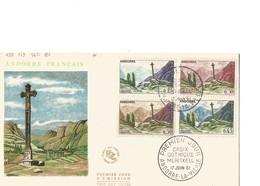 FDC Andorre YT N° 158 à 161 - FDC