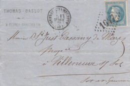 LETTRE. 1870. THOMAS-BASSOT GEVREY-CHAMBERTIN - Marcophilie (Lettres)