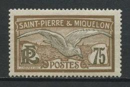 SPM MIQUELON 1909 N° 90 * Neuf MH Légère Trace Charnière TTB C 2,30 € Oiseaux Goéland Birds Faune Animaux - St.Pedro Y Miquelon