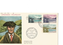 FDC Andorre YT N° 162 à 164 - FDC
