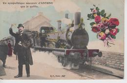 "CPA Antony - ""Un Sympathique Souvenir D'Antony Que Je Quitte"" - Antony"