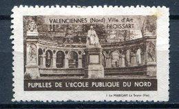 VALENCIENNES, Ville D'Art (Pupille De L'Ecole Publique Du Nord) - Commemorative Labels