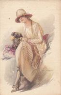 ILLUSTRATORS - A. Terzi - Woman & Dog - Otros Ilustradores