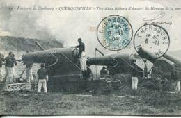 N°1045 T -cpa Querqueville -tirs D'une Batterie D'obusiers Du Hameau De La Mer- - Andere Gemeenten
